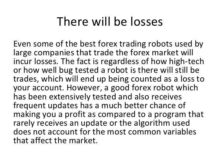 Forex robot no loss settings