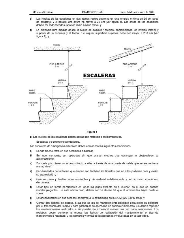 norma oficial mexicana nom 001 stps 2008 edificios ForEscaleras Nom 001