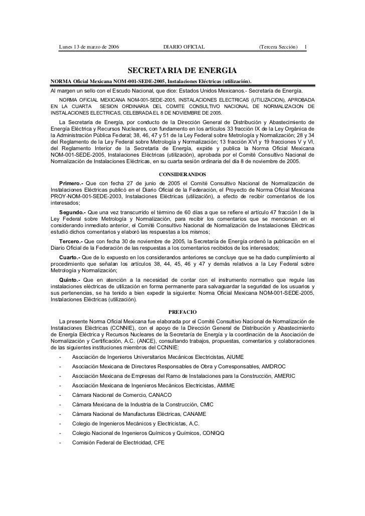 Lunes 13 de marzo de 2006                  DIARIO OFICIAL                          (Tercera Sección)   1                  ...