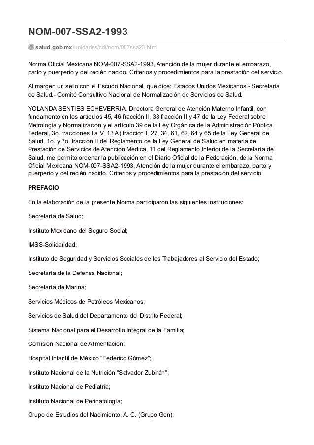 norma oficial mexicana nom-007 pdf