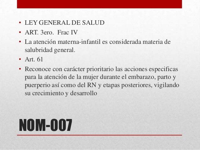 Nom 007 proyecto 2010