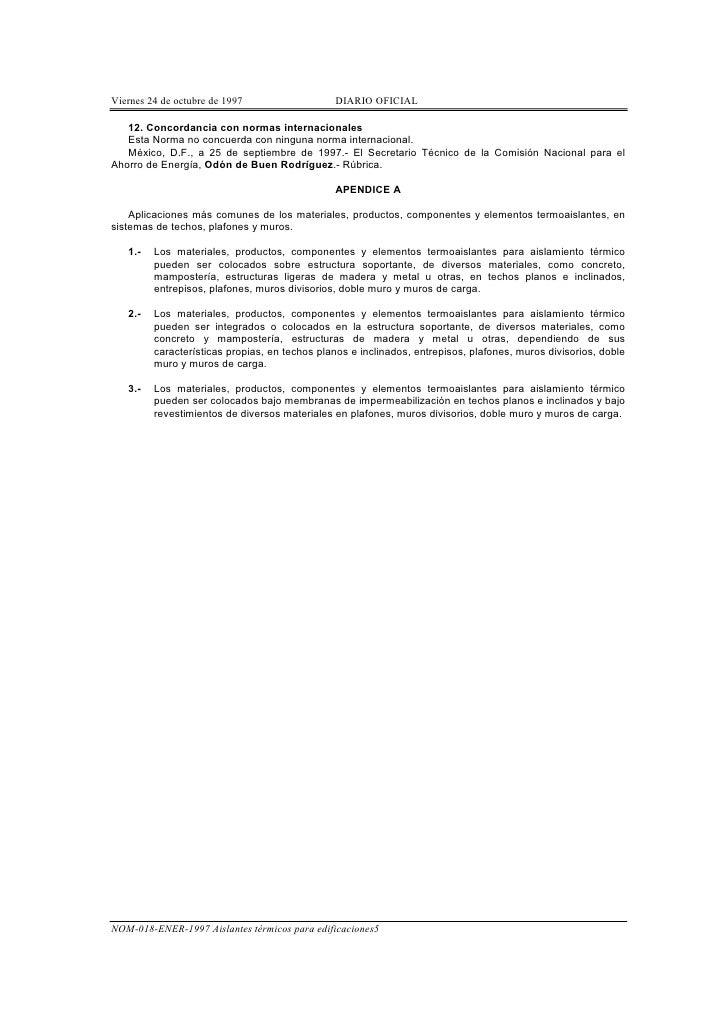N o m018 e n e r1997 1 aislantes termicos - Materiales aislantes termicos ...