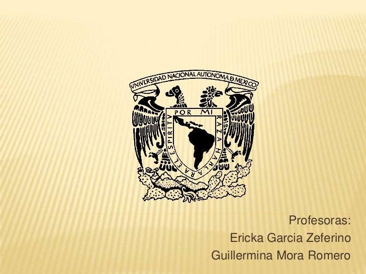 Profesoras:   Ericka Garcia ZeferinoGuillermina Mora Romero