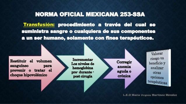 norma oficial mexicana de transfusion sanguinea pdf