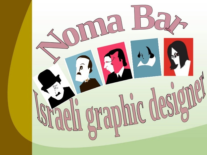 Israeli graphic designer  Noma Bar