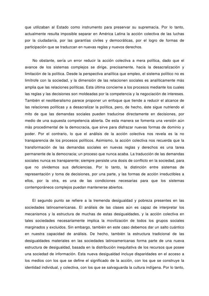 Alberto Melucci Accion Colectiva Vida Cotidiana Y Democracia Pdf