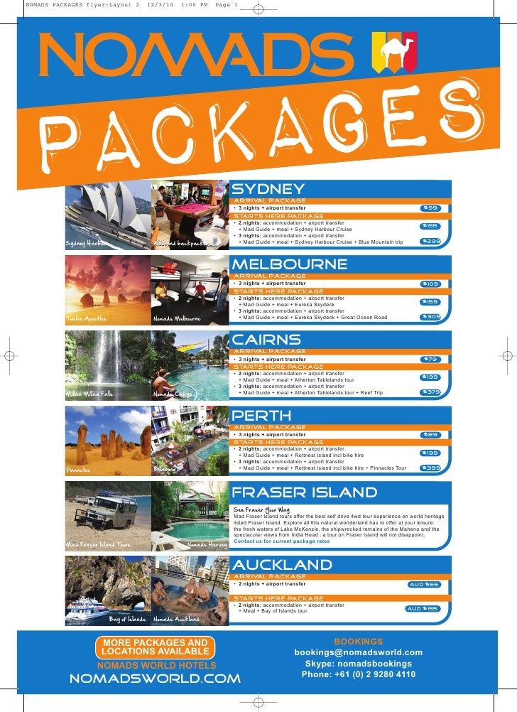 NOMADS PACKAGES flyer:Layout 2               12/3/10      1:00 PM   Page 1     PACKAGES                                   ...