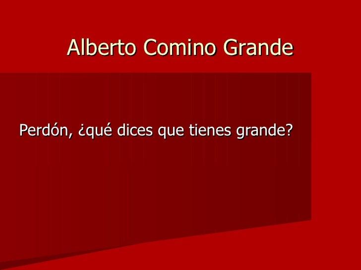 Alberto Comino Grande <ul><li>Perdón, ¿qué dices que tienes grande? </li></ul>