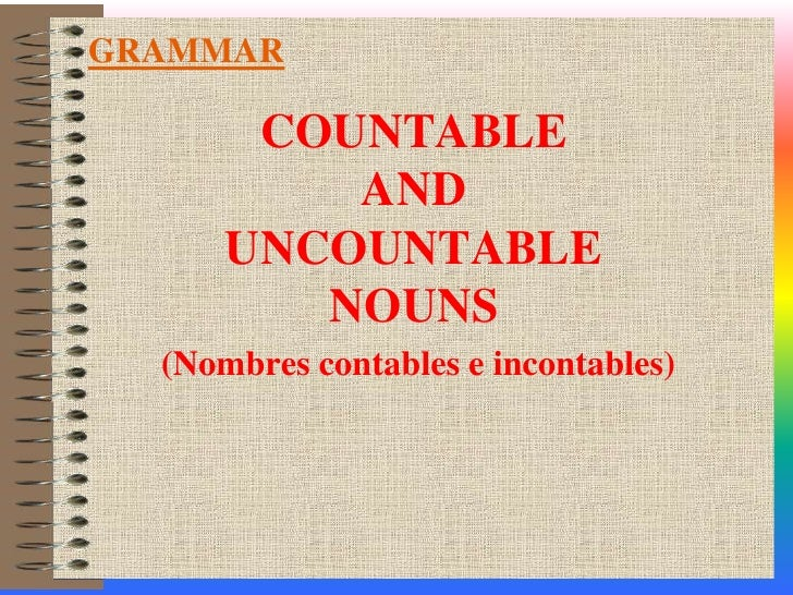 la palabra homework es contable o incontable