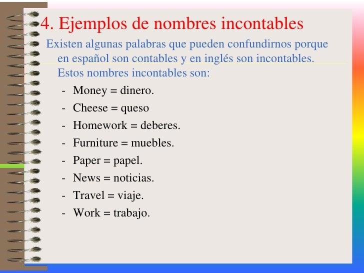 homework es contable o incontable