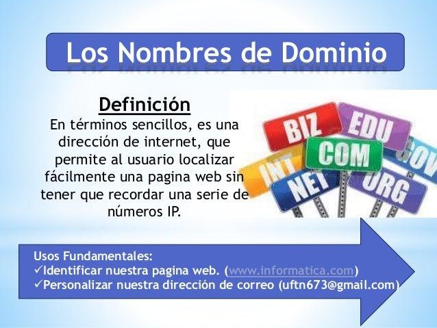 Nombres de dominio de internet y protocolos for Que es una pagina virtual