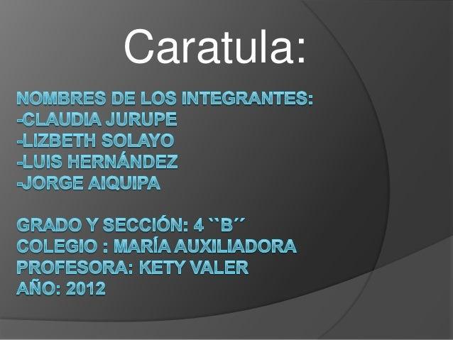 Caratula: