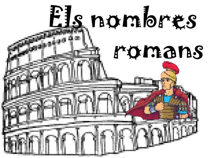Els nombres     romans