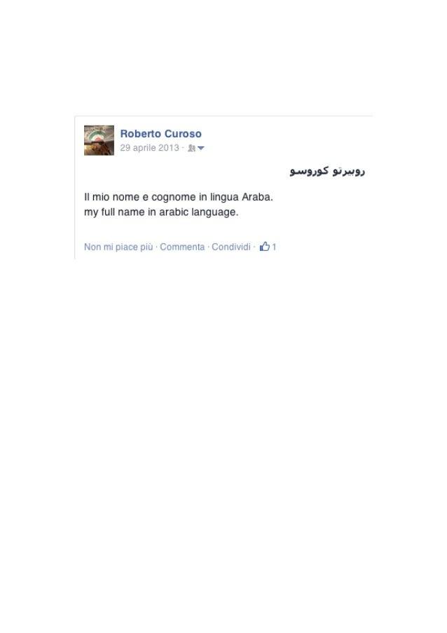 q);  Roberto Curoso 29 aprile 20131€?   II mio nome e cognome in lingua Araba.  my full name in arabic Ianguage.   s-usasS...