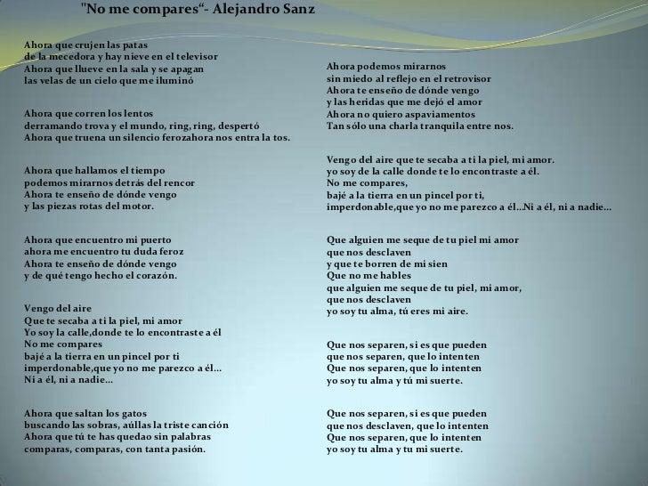 Unidad Didáctica Con La Canción No Me Compares De