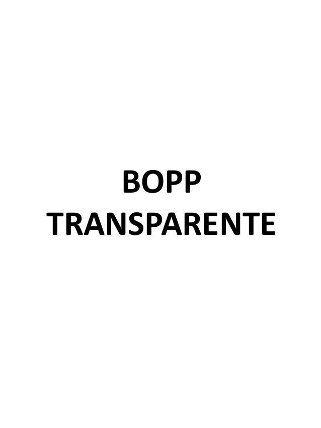 BOPP TRANSPARENTE