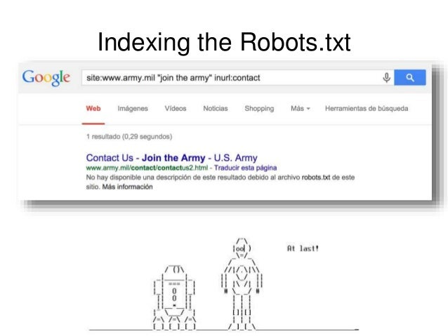 Indexing the Robots.txt