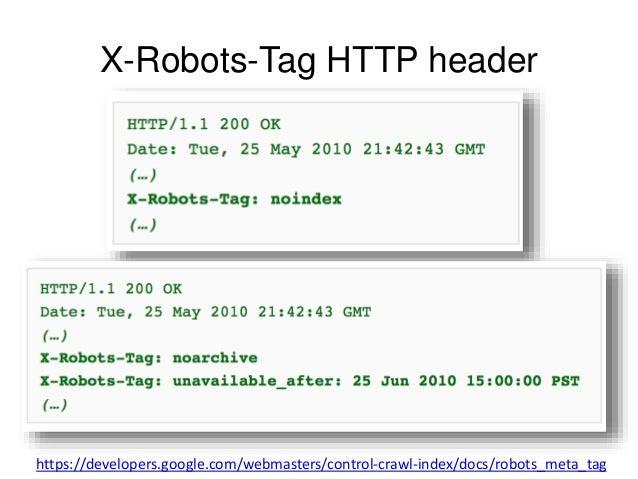 X-Robots-Tag HTTP header  https://developers.google.com/webmasters/control-crawl-index/docs/robots_meta_tag