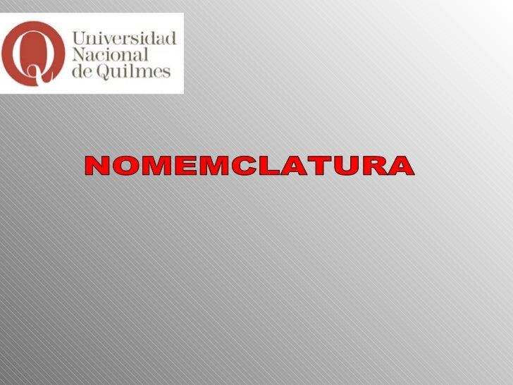 NOMEMCLATURA
