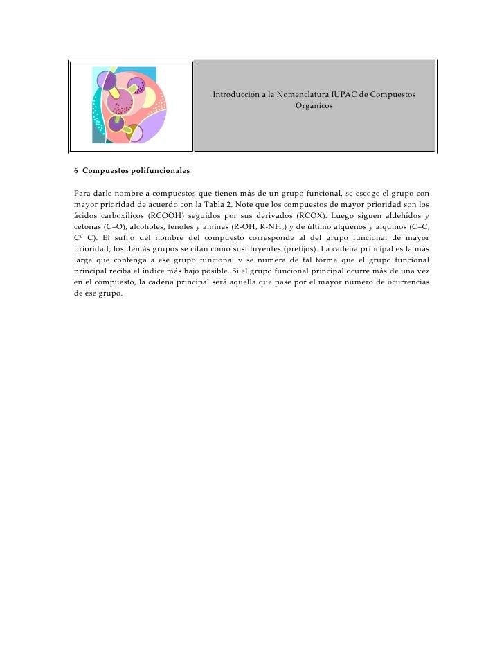 Introducción a la Nomenclatura IUPAC de Compuestos                                                            Orgánicos   ...