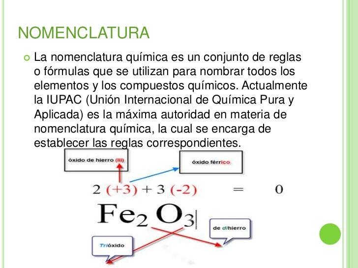 Nomenclatura qu mica for La quimica de la cocina