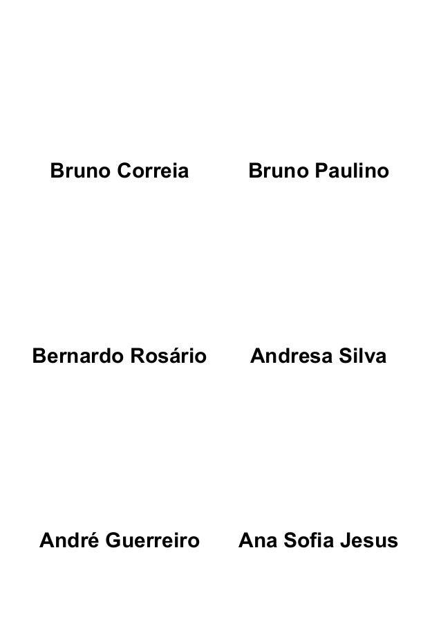 Bruno Correia Bruno Paulino Bernardo Rosário Andresa Silva André Guerreiro Ana Sofia Jesus