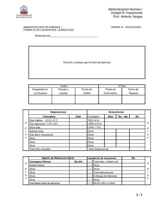 Formato liquidacion de nomina formato liquidacion de for Liquidacion de nomina excel 2016