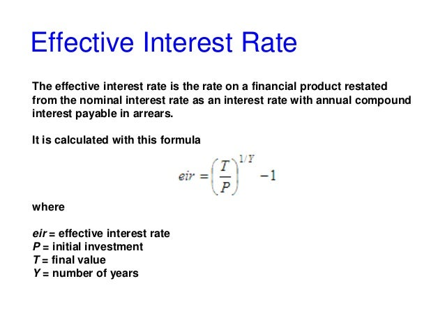 How to calculate the effective interest rate