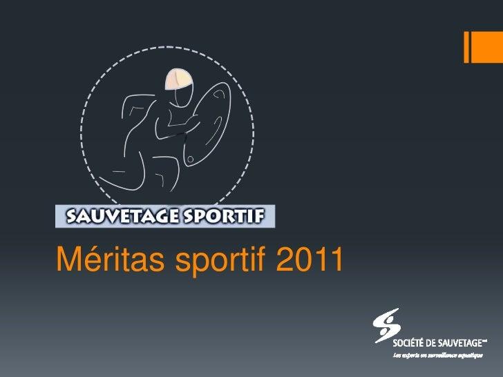 Méritas sportif 2011