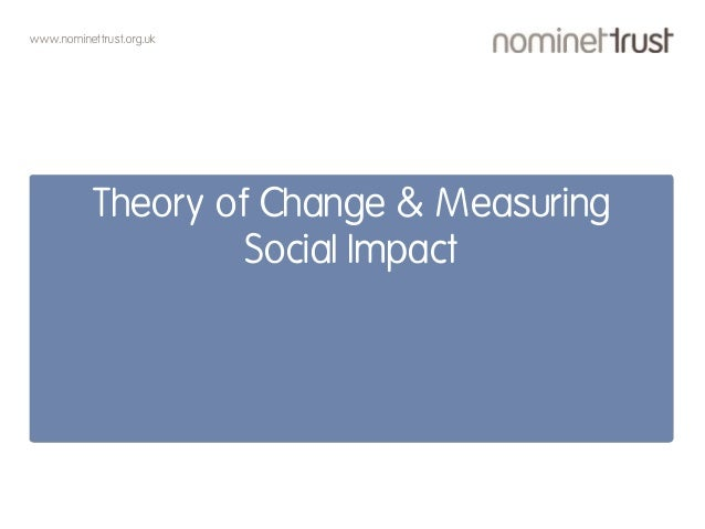 www.nominettrust.org.uk Theory of Change & Measuring Social Impact
