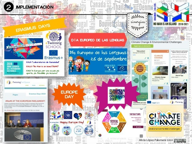 Alicia López Palomera 2020 2 IMPLEMENTACIÓN sinergias ERASMUS DAYS DÍA EUROPEO DE LAS LENGUAS EUROPE DAY