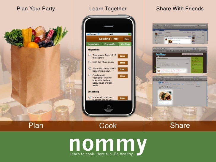 Plan Your Party              Learn Together              Share With Friends         Plan                          Cook    ...