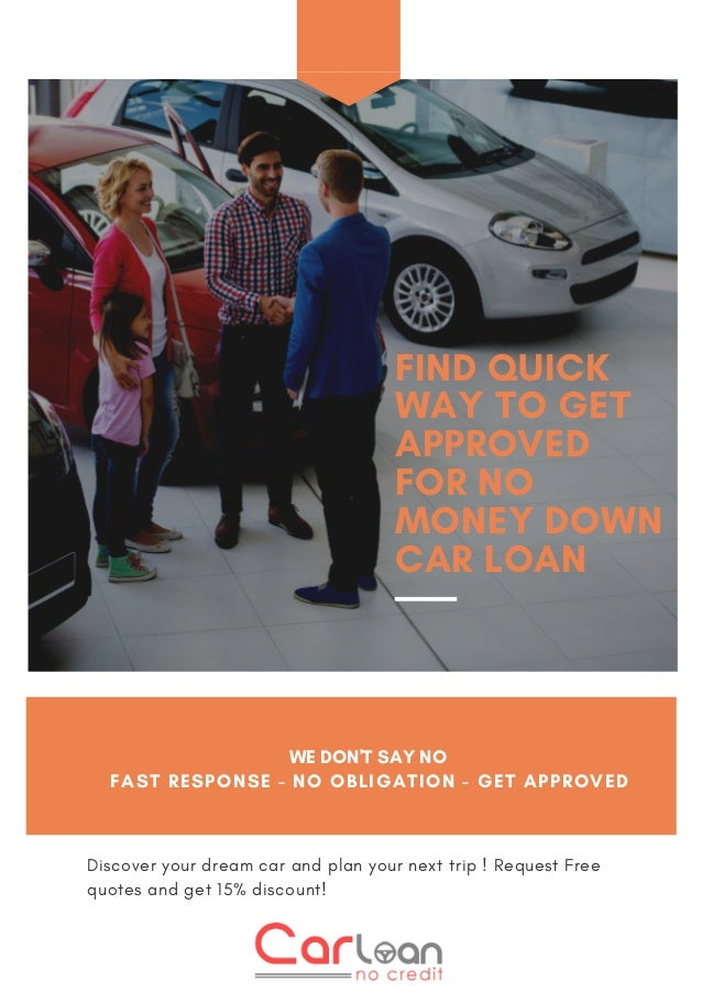 Things About Car Loan No Money Down Bad Credit You May Not Have Known