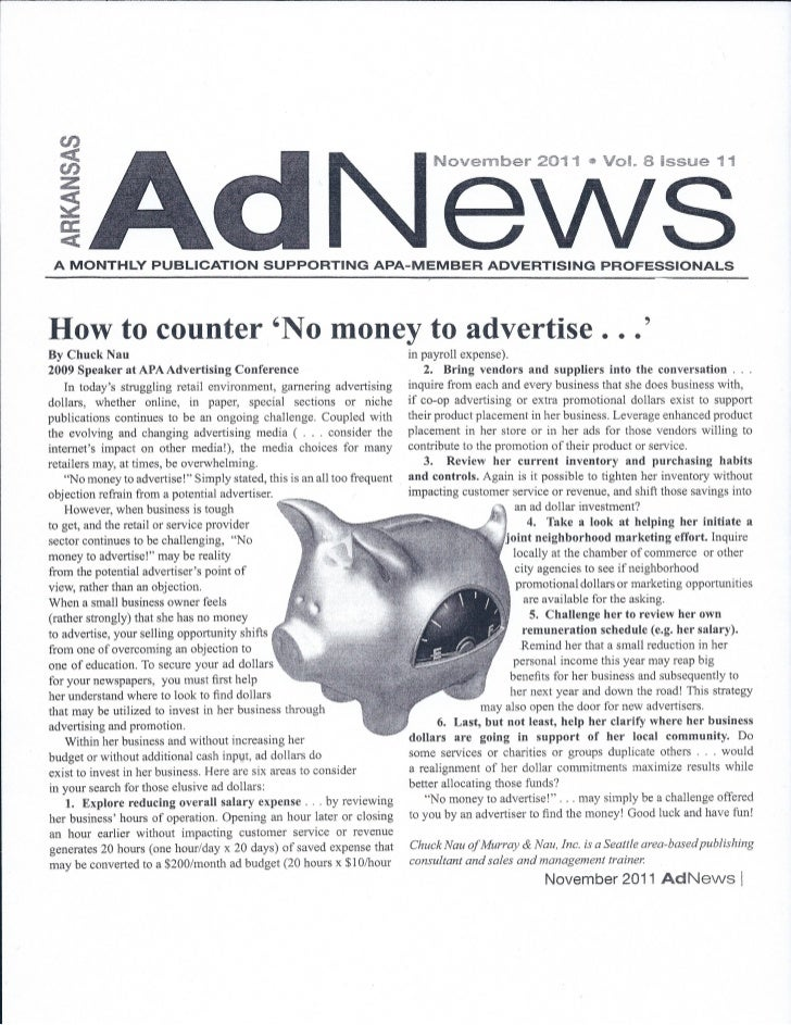 No money to advertise