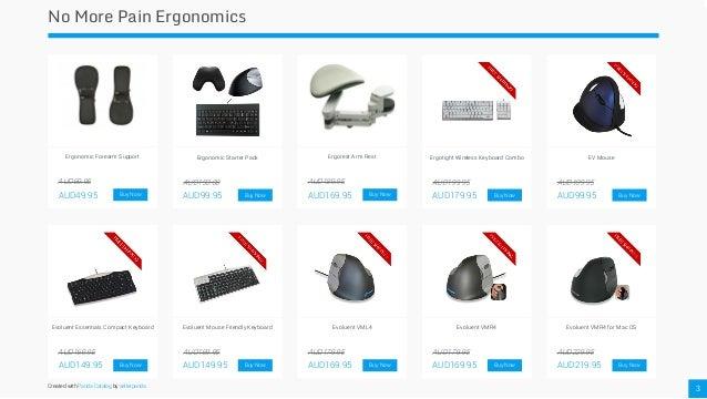 no more pain ergonomics product catalogue. Black Bedroom Furniture Sets. Home Design Ideas