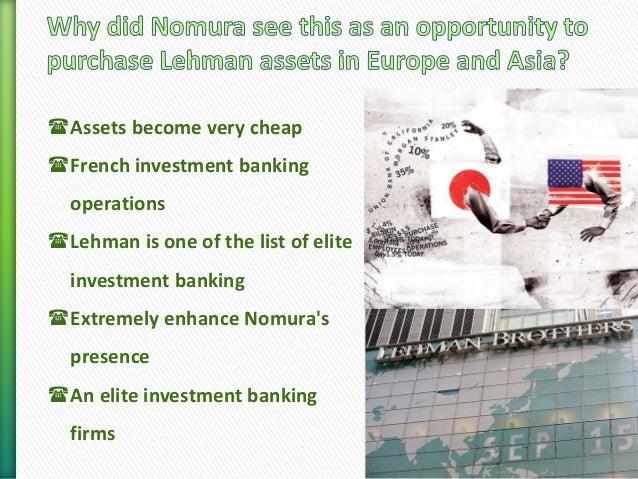 Nomura lehman acquisition