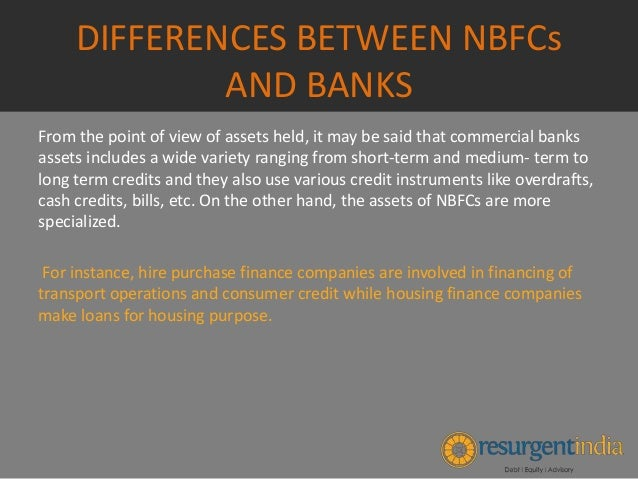 difference between banking and non banking financial institutions pdf