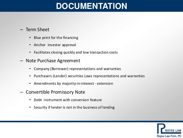 Term Sheet Example Sample Convertible Note Term Sheet 1