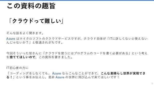 Non-coding! Azure Slide 2