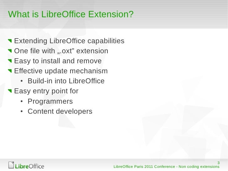 LibreOffice/OpenOffice org - non coding extensions