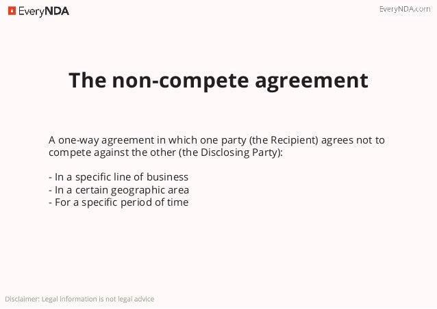 Non compete vs non disclosure 4 the non disclosure agreement platinumwayz