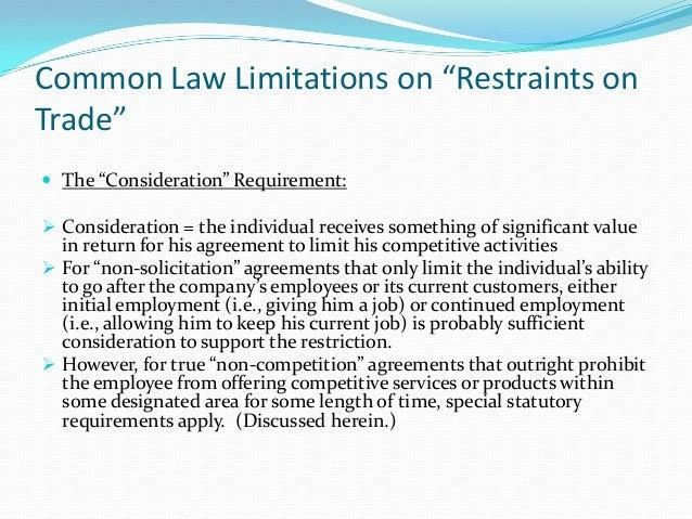 Noncomoetative agreements