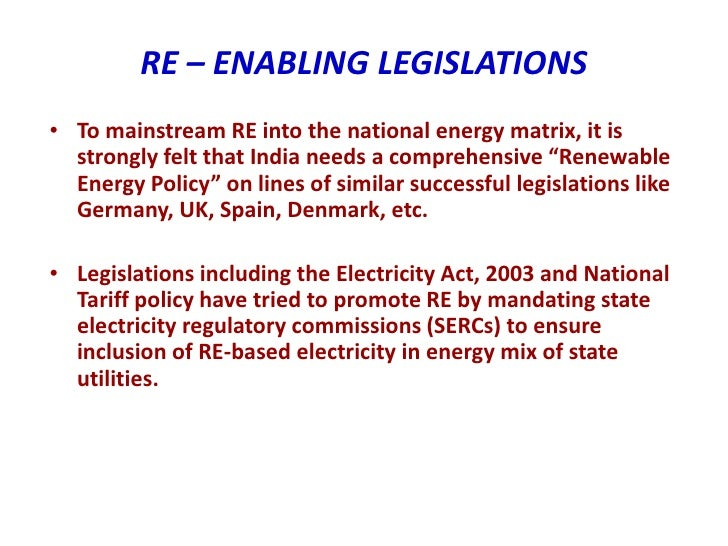 Electricity Act 2003 Tariff Policy