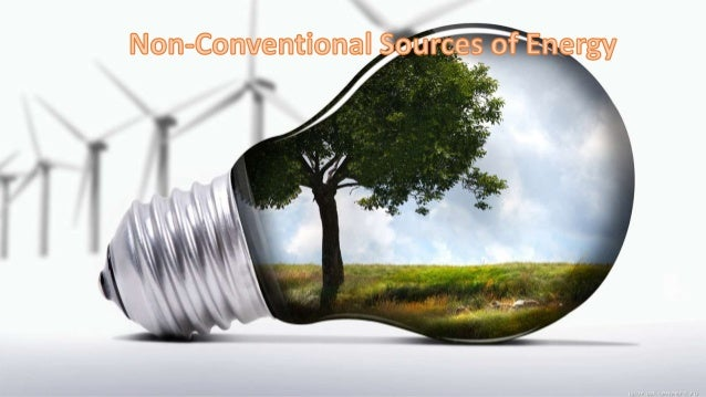 conventional sources of energy