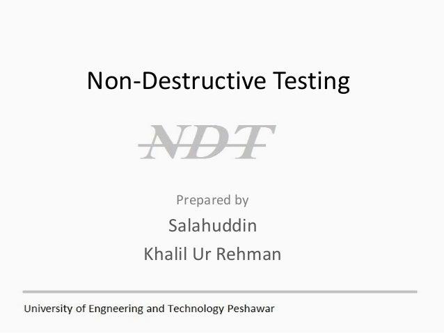 Non Destructive Tester : Non destructive testing concrete
