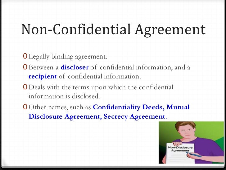 Non Disclosure Agreement