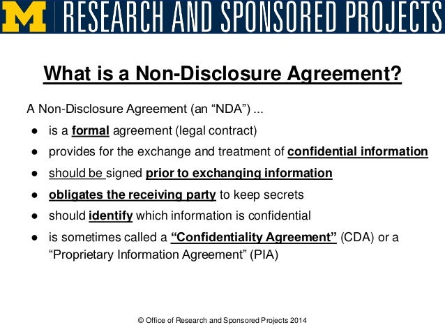 The Secrets Of NonDisclosure Agreements
