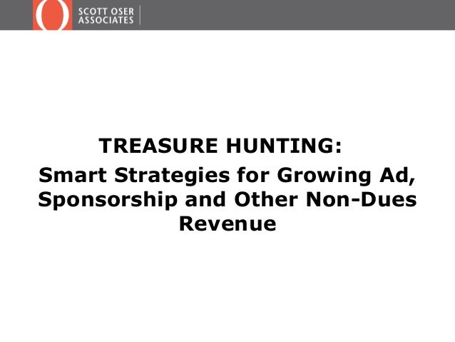 TREASURE HUNTING: Smart Strategies for Growing Ad, Sponsorship and Other Non-Dues Revenue