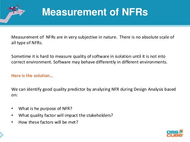 Non functional requirements  do we really care…?