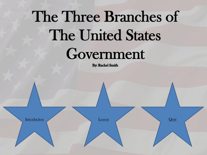The Three Branches of      The United States        Government               By: Rachel SmithIntroduction      Lesson     ...
